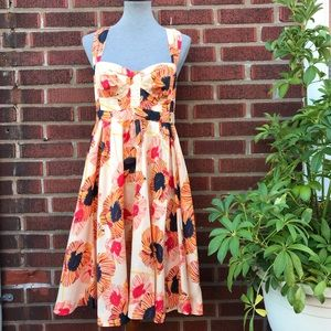 French Connection Floral Fit and Flare Dress